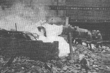 Lángtenger az Alfa budapesti raktárüzemében