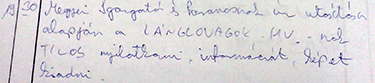 Írásban is nyoma maradt a Lánglovagok tiltásának