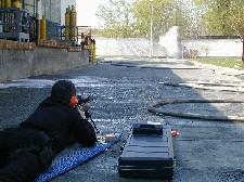 Gázpalack kilövése
