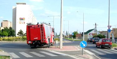 Székesfehérvári tűzoltók vonulása
