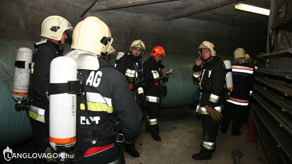 Közművek, közműalagutak tüzeinek oltása
