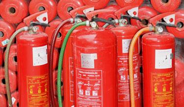 MSZ 1040-es tűzoltókészülékek (Fotó: Kovács Sándor)