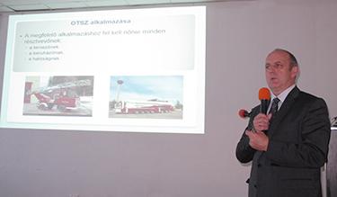 Érces Ferenc, az Országos Katasztrófavédelmi Főigazgatóság tűzmegelőzési főosztályvezetője (Fotó: Kis-Guczi Péter)
