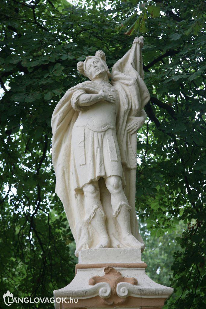 Szent Flórián-szobor Bólyon (Fotó: Kis-Guczi Péter)