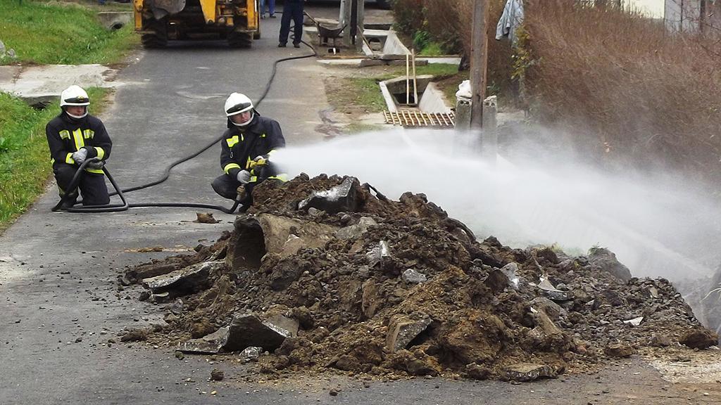 Beavatkozás gázvezeték sérülése esetén