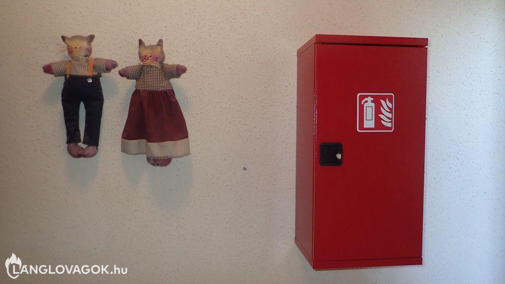 Hordozható tűzoltó készülékek elhelyezése