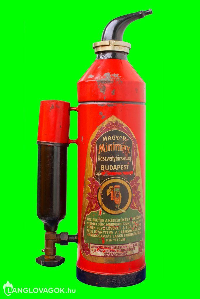 Minimax  J porral oltó tűzoltó készülék (Fotó: Kovács Sándor)