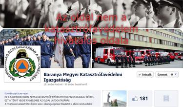 Baranya Megyei Katasztrófavédelmi Igazgatóság nem hivatalos Facebook oldala
