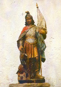 Szent Flórián ábrázolása