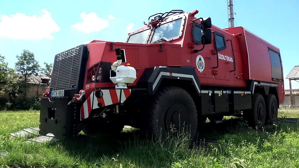 RDO-4336 Komondor-Gamma cserefelépítményes páncélozott tűzoltógépjármű bemutatása